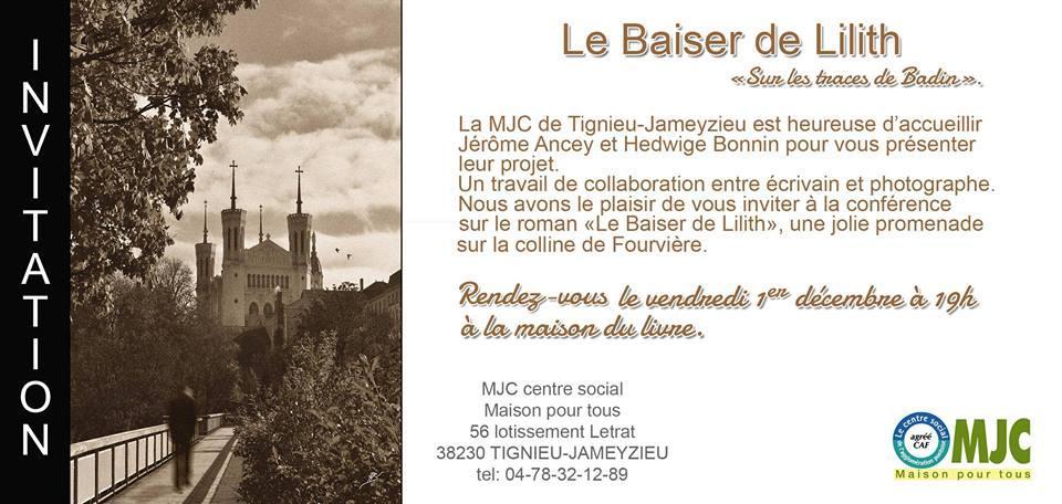 """Vernissage de l'expoition """"Sur les traces de Badin"""" avec Hedwige Bonnin et Jérôme Ancey"""
