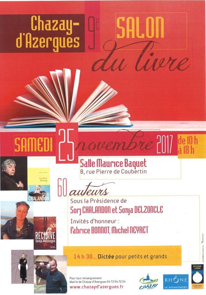 Jérôme Ancey au salon du livre de Chazay d'Azergue le samedi 25 novembre 2017.